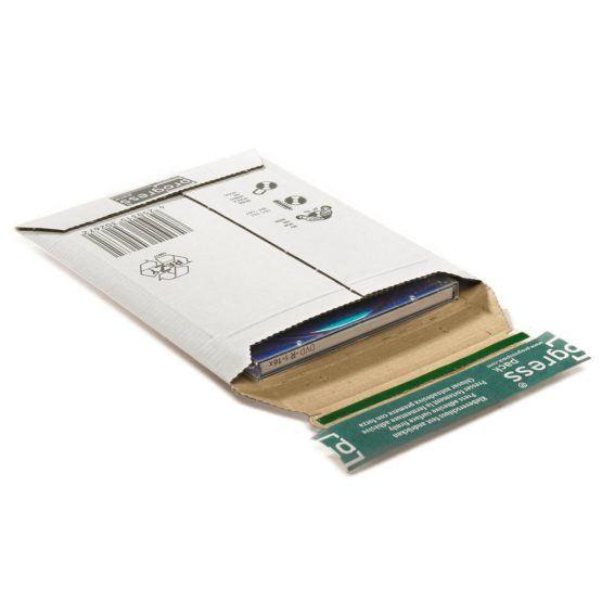Kartonnen envelop, met extra hoogterillen 25mm